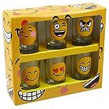 Vasos de chupito 6unidades Emoji Smiley Blush Fun Party potable juegos de Navidad