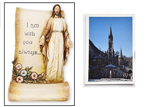 Grave-Statue-I-am-with-you-always-Grave-Yard-Statue-with-Jesus-Prayer-Card