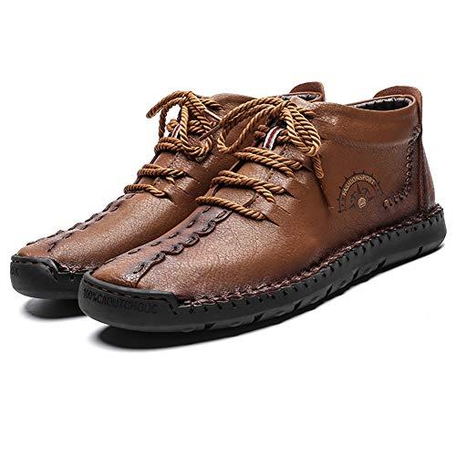 Botas de Gamuza Tobillo Conducción para Hombre Botines Chukka Desert Boat Zapatos Mocasín sin Cordones...
