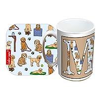 Selina-Jayne Limited Edition Cockapoo Dogs Initial M Mug and Coaster Gift Set