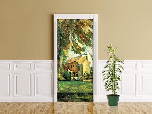 Türaufkleber Paul Cézanne - Alte Meister - Jas de Bouffan - Kunst - Reproduktion - Künstler -...