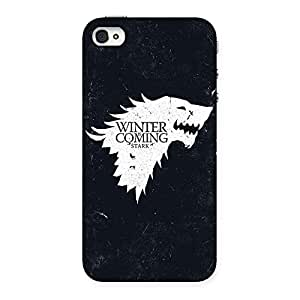 Impressive Games Of Winter Grey Back Case Cover for iPhone 4 4s