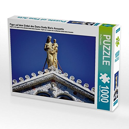 Figur auf dem Giebel des Doms Santa Maria Assuanta 1000 Teile Puzzle quer -