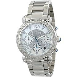 "Just Bling Ladies JB-6210-D ""Bronx Pearl"" Stainless Steel Diamond Watch"