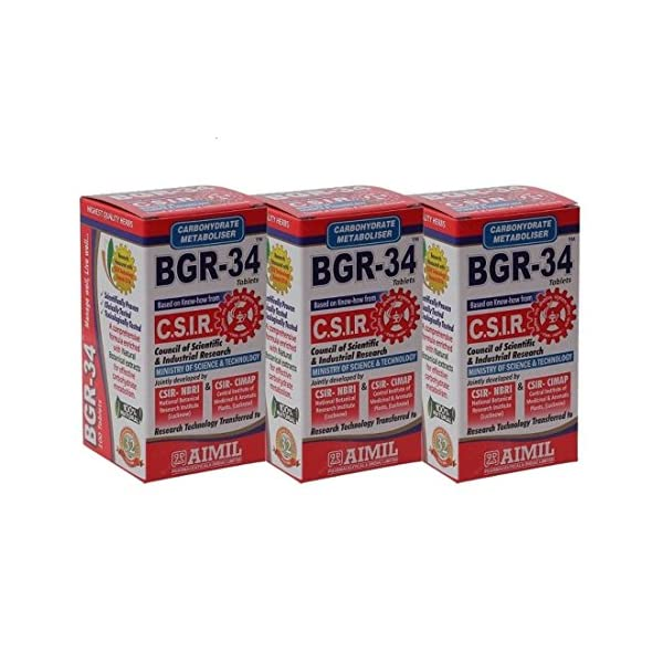 Aimil Carbohydrate Metaboliser BGR – 34 Tablets – (Pack of 3)