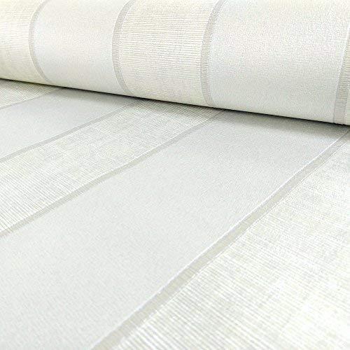 """Muriva Tapete 2052110,05m""""Italian Style Seren Streifen Luxus Schwergewicht Wand einkleistern"""" Tapete, Weiß"""