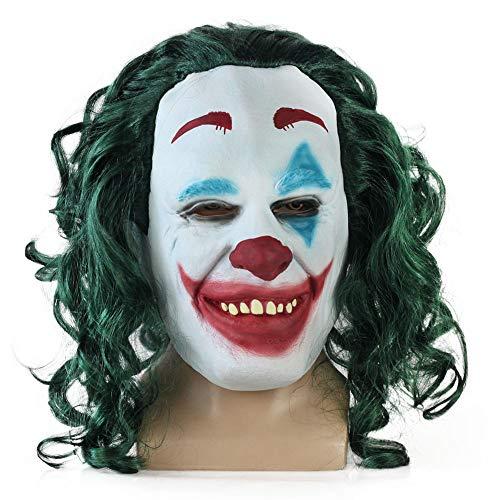 Kinder Dark Batman Knight Kostüm Joker - SEJNGF Latexmaske Clown Batman Dark Knight Halloween Joker Filmfiguren Für Erwachsene Anzieh Kostüm Kopfumfang: Bis 63 cm