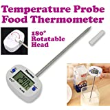 Gadget Hero'S Details About Barbeque Bbq Food Probe Kitchen Cooking Thermometer Sensor Range -50 To +300 C