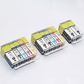ADLUS 12 kompatibler Canon PGI-525BK CLI-526C CLI-526M CLI-526Y Tintenpatronen (4 PBK,2 BK,2 C,2 M,2 Y) für Canon PIXMA iP4850 iP4950, iX6550, MG5150 MG5250 MG5350 MG6150 MG6250 MG8150 Drucker