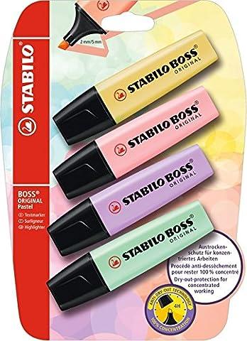 Stabilo surligneur–Boss Original Pastel 4er Blister