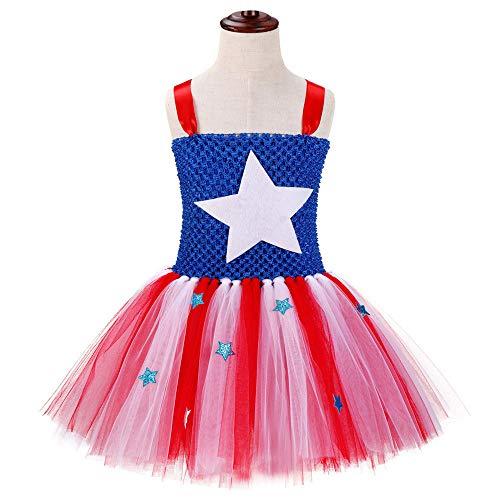n Dream Dress Deluxe Kostüm,CaptainAmericadress,130cm ()