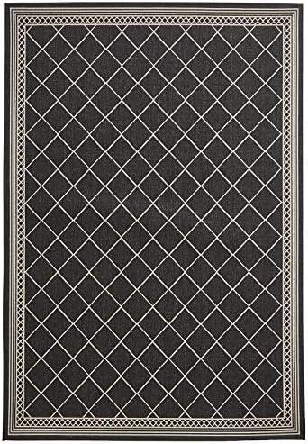 HomeLinenStore Designer Style Style Style Altamente Durevole Nero Coloreee Zig Zag Striped Lana in Due Diverse Dimensioni, Polipropilene, nero Wool, 160 x 220 Cm 34bf81