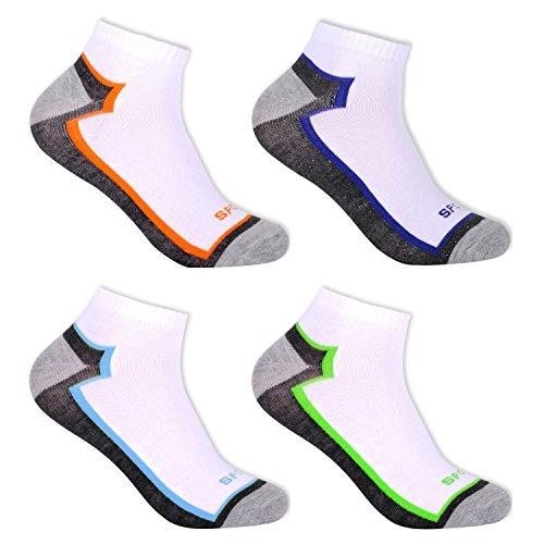 L&K 12 Paar Herren Sneaker Socken Baumwolle Sportsocken atmungsaktiv mehrfarbig 2122 43-46