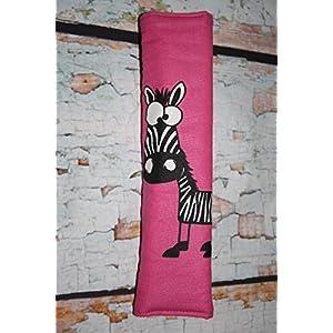 Auto Gurtpolster für Kinder und Erwachsene pink mit Zebra