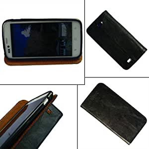 i-KitPit - PU Leather Flip Case Cover For HTC Desire 700 (BLACK)