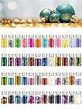 Kit de herramientas para decoración de uñas de Imanom, 48 unidades, purpurina, diamantes de imitación y lentejuelas; equipo para uñas artísticas DIY para salones de belleza