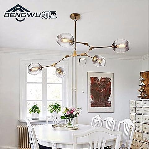 Ty970-Testa singola piccoli lampadari a personalizzare il villaggio creativo lampadario in ferro lampadari creative lampade a soffitto lampade retrò DW-D