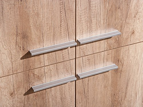 Links 22500020 Kommode Highboard Wohnzimmerkommode Wohnkommode Wildeiche 4-türig modern NEU - 4