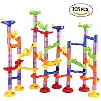 Marble Run Railway Toy DIY Building Blocks Marble Runs Coaster Railway Construction Marble Game for Kids Children Gift Toy