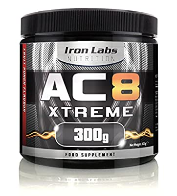 AC8 Xtreme | Pre-Workout Supplement | Energy & Muscle | Fruit Punch Flavour | 20-40 Servings | 300 grams