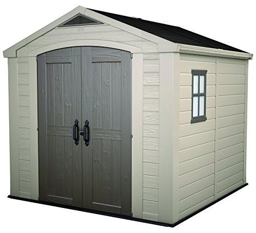 keter-factor-outdoor-plastic-garden-storage-shed-8-x-8-feet-beige