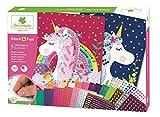 Mosaïques autocollantes pour enfants - 5 maxi tableaux Licornes - Loisir créatif - Stick & Fun - Dès 5 ans - Sycomore - CRE7001...