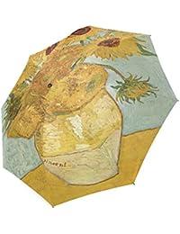 Moda girasol por Vincent van Gogh pinturas al óleo paraguas resistente al viento resistente al agua