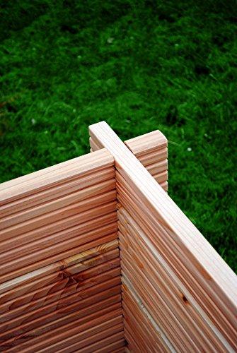 douglasienholz bio hochbeet aus blockbohlen gran m 80 widerstandsfahiges zusammenbau ohne streichen