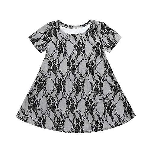 Amphia Mädchen Prinzessin Kleid,Mama & Ich Baby Mädchen Spitze Design Minikleid Familie Passende ()