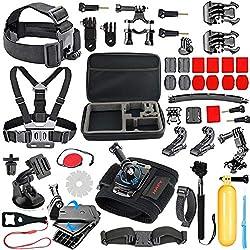 HAPY deportes al aire libre camara Accesorios para GoPro Hero 5 / período de sesiones 6 / 5 / 4 / 3 / 2 / 1, akaso ek7000, ek5000, sjcam, dBpower, Xiaomi Yi, Carrying Case, Camera Bundle