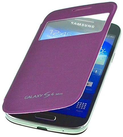 PhoneStar Flip Cover étui de protection avec fenêtre pour Samsung Galaxy S4 Mini i9190 / i9195 en violet