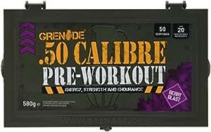 Grenade 50 Calibre Pre Workout Devastation - Berry Blast, 50 Servings