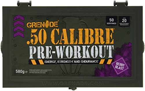Grenade 50 Calibre Pre Workout Devastation – Berry Blast, 50 Servings