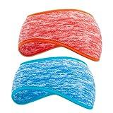 SAVITA 2 Stück Stirnbänder Winter Ohrenwärmer Dehnbar Stirnband Sport Ohrenschützer Thermal Headband für Damen,Herren,Mädchen(6 Farben)