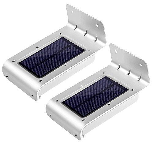 LE Zweite Generation 2er Pack 16 LEDs LED Solarleuchten Mit Bewegungsmelder, Wasserdicht, Kaltweiß, 6000 Kelvin, Kabellose Wandleuchten, Aussenleuchten für Tür, Flur, Wege, Terrassen, Garten, Fahrtweg, Solarbetriebenes Nachlicht