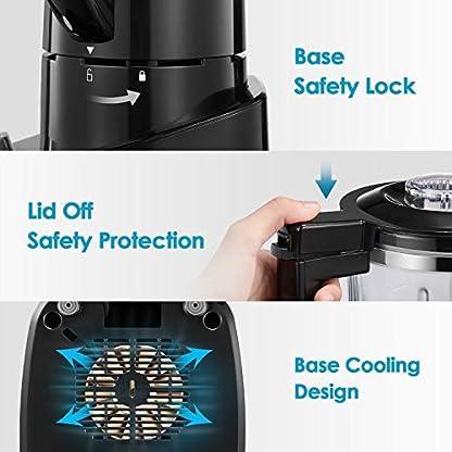 Mixer-Standmixer-700W-Smoothie-Maker-1500ml-Glasbehlter-mit-Pulsfunktion-Edelstahlklinge-2-Gang-Mixer-fr-Smoothie-und-Eis-21000UMin-Aicok