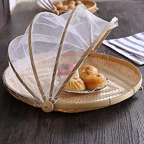 likeitwell Gauze Dust-proof Fruit Basket Picnic Basket Hand-woven Dust-proof Sunscreen Handmade Bread Fruit Hand-woven Pest Control conventional