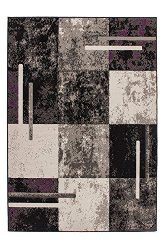 Kayoom 4056216454409 Teppich, 100% Polypropylen, grau/elfenbein, 150 x 80 cm (Elfenbein-polypropylen-teppich)