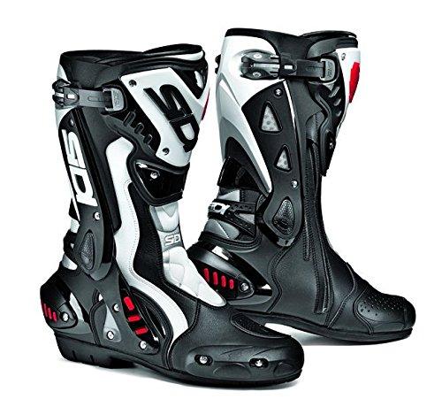 SIDI ST Motorbike Motorcycle Sports On Road Racing Boots, Black/White - White - EC 41