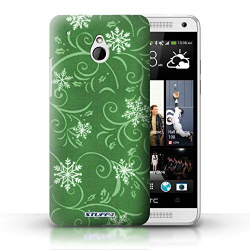Kobalt® Imprimé Etui / Coque pour HTC One/1 Mini / Rose conception / Série Motif flocon de neige Vert