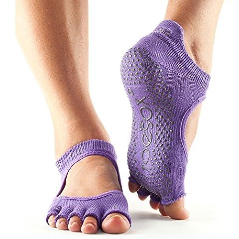 ToeSox Grip metà dita Bellarina danza calze, calze e possono essere utilizzate per barre, Yoga, Pilates, Fitness antiscivolo calze–1Coppia, Light Purple, Small/3-5.5