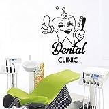 Drôle Mignon Dents Stomatologie Decal Clinique Dentaire Décoration Murale Dentiste Sourire Fenêtre En Verre Deco Dents Clinique Murales 42X51cm...
