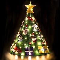 Bageek Árbol de Navidad DIY, niño Árbol de Navidad Redondo árbol de Navidad pequeño Navidad Decoración Colgante para Niños Mini arbol de Navidad Cafe Hotel casa decoración