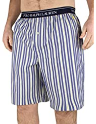 Polo Ralph Lauren Homme Logo Flynn Striped Pyjama Short Sleep, Bleu