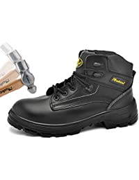 644c64407e0f Steel Toe Cap Work Safety Boots Mens - M8025 Light Weight Water Resistant  Dealer Safety Shoes Trainers with…