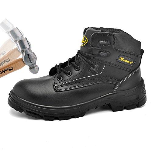 SAFETOE Scarpe Antinfortunistiche Alte Leggere - 8356B Stivali da Lavoro Unisex-Adulto, S3 SRC Colore Nere