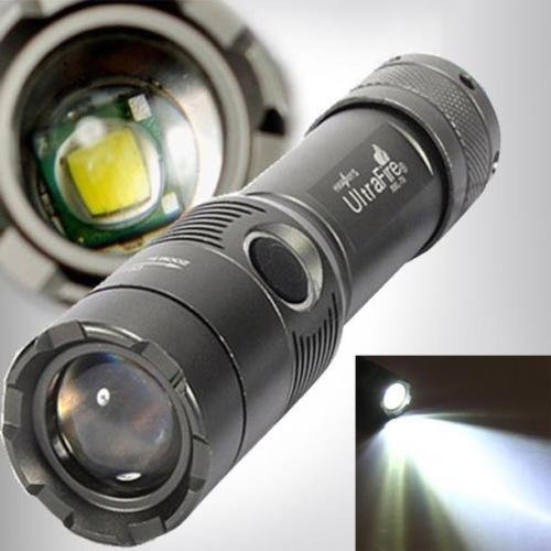 UKMOBI Zoombar Superhelle CREE LED Taschenlampe, 3000Lm UltraFire CREE XML T6 LED Flashlight, LED Handlampe, LED Camping Handlampe, mit einstellbarem Fokus