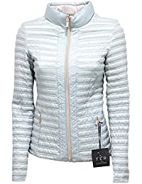 CARACTERE 7805R Giubbotto Donna TER Double Face Azzurro Grigio Jacket Woman f308f81ef73d