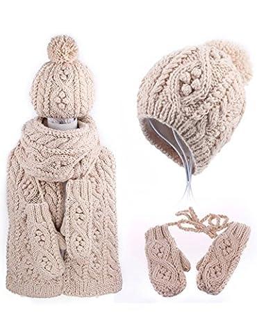 New Year's Birthday Gift Winter Cute Wool Hat Scarf Glove