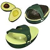 Avocado Erhaltung Werkzeug Avocado Box Transportbox Upxiang übrig gebliebenen grünen Avocado bleiben frisch Sparen Box Hälfte Avocado Lebensmittel Halter Keeper Küche Gadget (Grün)